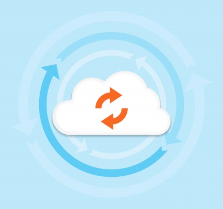 This image is a vector file representing a internet cloud computing concept. Illustration