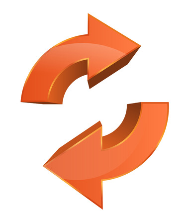 This image is a vector file representing a Data Sync Backup Icon. Vector