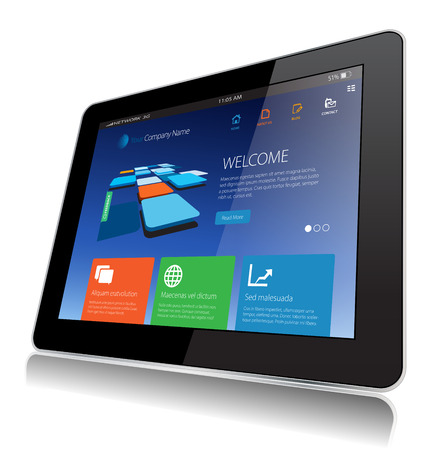 This image represents a Internet Tablet Technology vector.