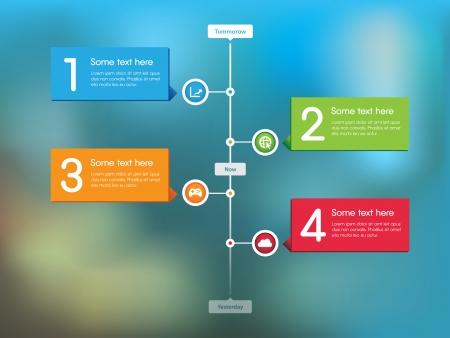 Cette image est un fichier vecteur représentant une Timeline Feed Stream. Illustration
