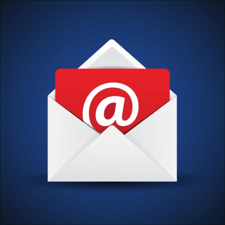 This image is a vector file representing a email contact envelope.
