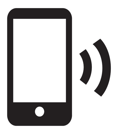 This image is a vector file representing a Smart Phone Wireless Icon App.
