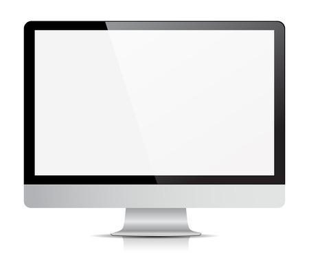 monitor de computadora: aislado visualización del monitor del ordenador.