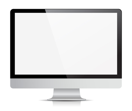 computer monitor display isolated. Illustration