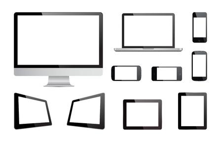 이 이미지는 절연 매체 장치의 벡터 컬렉션을 나타내는 벡터 파일이다. 일러스트