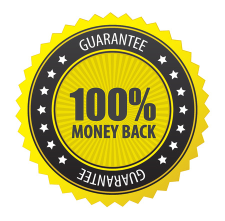 This image is a vector file representing 100% guarantee label. Illustration
