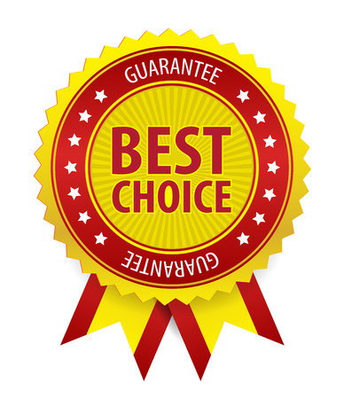 This image is a vector file representing a best choice label. Ilustração