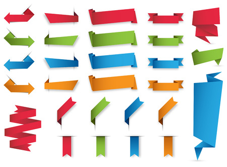 collection of colorful banners. Illustration
