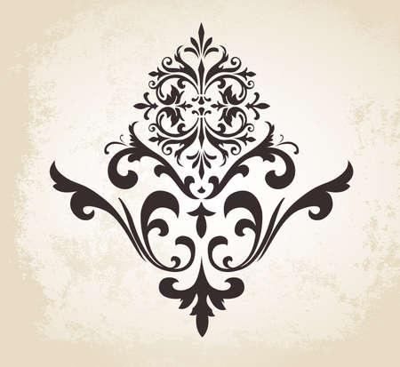 decorative: Cette image est un fichier vectoriel représentant un ornement décoratif vecteur vintage.