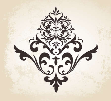 ornaments floral: This image is a vector file representing a Vintage Vector Decorative Ornament.