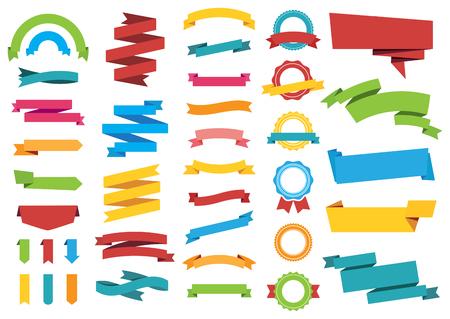 insignias: Esta imagen es un archivo vectorial que representa etiquetas engomadas Banners Etiquetas Bannersn colecci�n de dise�o vectorial.