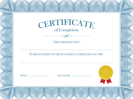 Vector file representing a Certificate Diploma Template. Illustration
