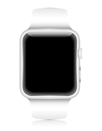 Vector Smartwatch Wearable Gadget. Realistic illustration. Ilustracja