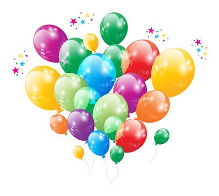 Birthday Party Ballon Vector