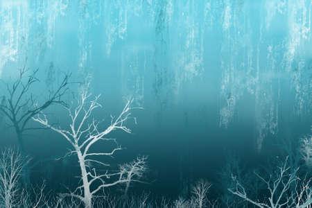 lluvia acida: Azul de la lluvia �cida