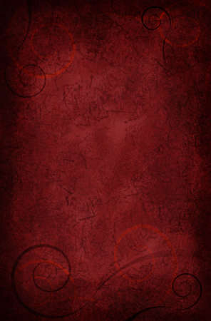 cuve: Beautiful velvety red background with scrolls and texture