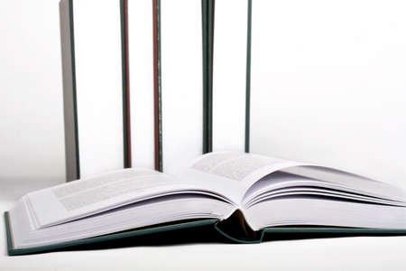 encyclopedias: Open book Stock Photo