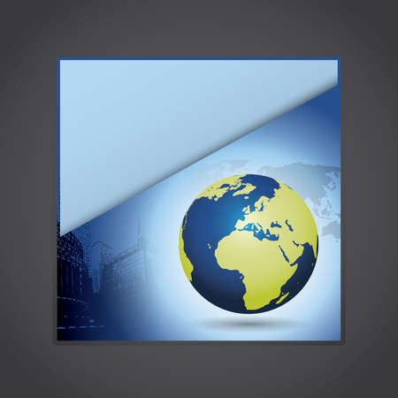 Corporate eco folder Stock Vector - 9897319