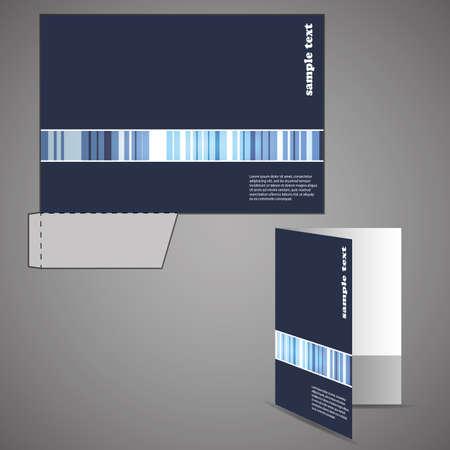 carpeta: Carpeta corporativa con chip corta dise�o Vectores