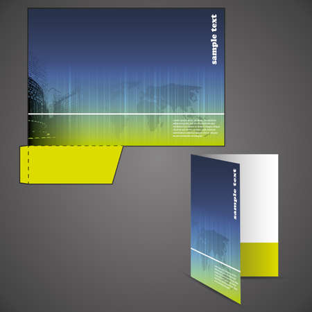 folder design: Corporate folder with die cut design Illustration