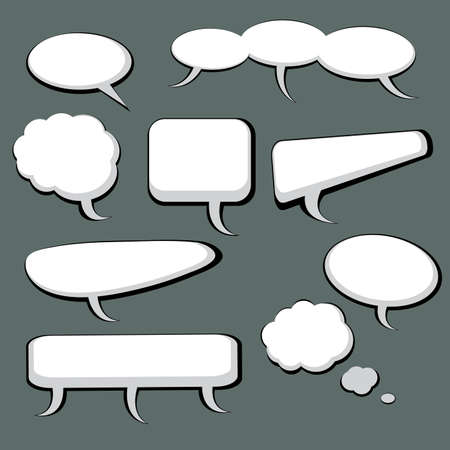 9 Speech And Thought Bubbles Stock Vector - 9897494
