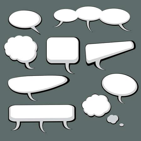 burbujas de pensamiento: Discurso 9 Y pensamiento burbujas