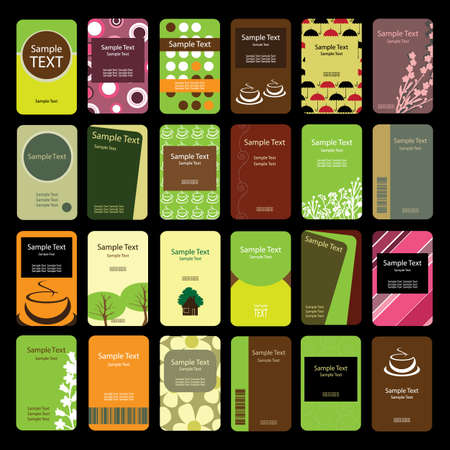 24: 24 Colorful Vertical Business Cards