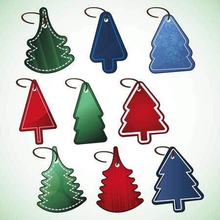 Christmas tree price tags Stock Vector - 9897507