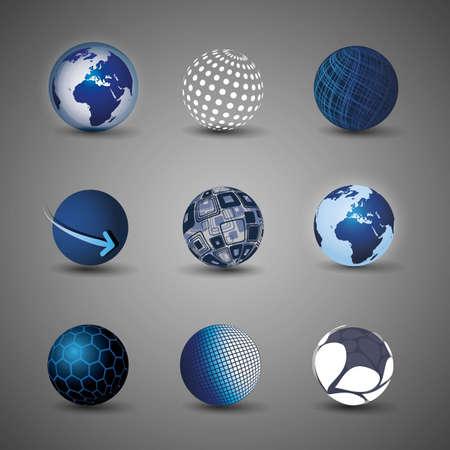 the globe: Collezione di disegni del globo