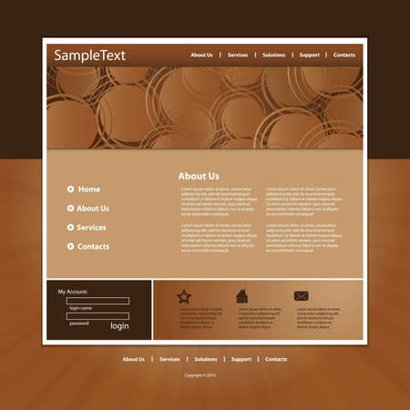 product presentation: Website template in editable vector format