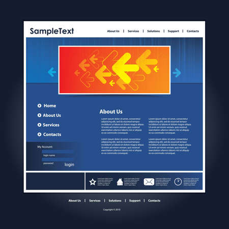 Abstract business web site design template vector Stock Vector - 9897505