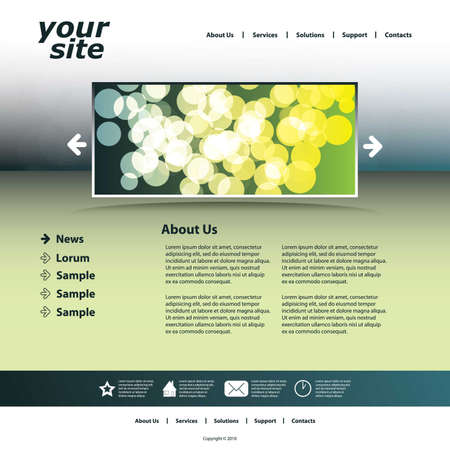 Abstract business web site design template vector Stock Vector - 9897329
