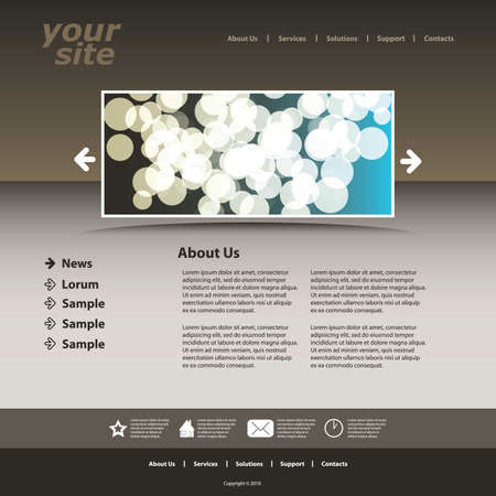 Abstract business web site design template vector  Stock Vector - 9897502