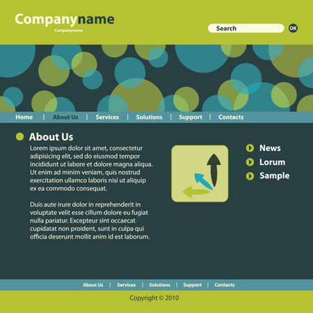 Website Template Stock Vector - 9897484