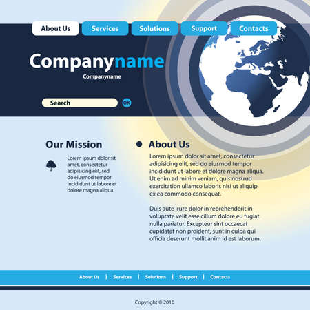 webpage: Website Template Vector