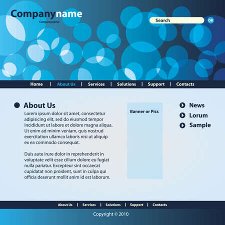 Website Template Vector Stock Vector - 9897356