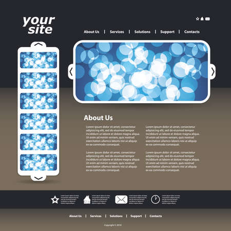 Abstract business web site design template vector Stock Vector - 9897375