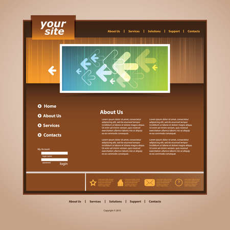 Abstract business web site design template vector Stock Vector - 9897369