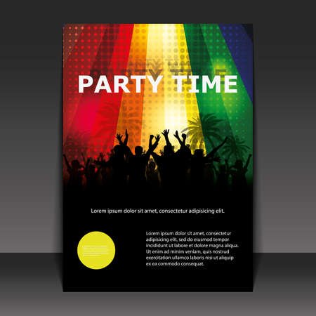 rave party: Dise�o de Flyer - tiempo de partido Vectores