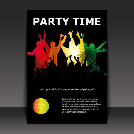 Flyer Design - Party Time Stock Vector - 9933749