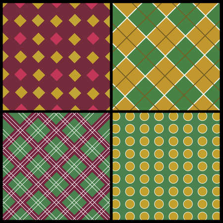 A set of 4 patterns Vector
