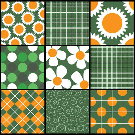 A set of 9 patterns Vector