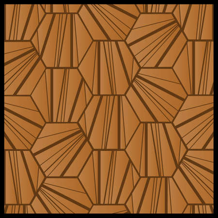 hexagonal shaped: Abstract pattern Illustration