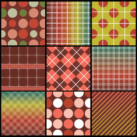 9 Colorful Abstract Backgrounds Vector