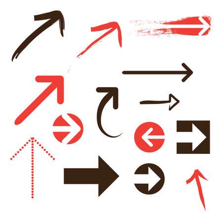 freccia destra: Set di Frecce Vettoriali