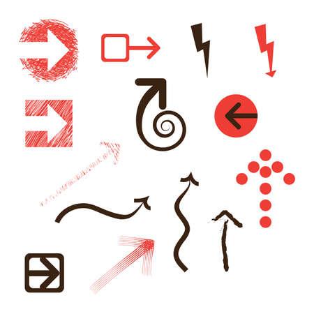 freccia destra: Set di frecce