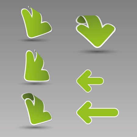 3D Arrow Labels Vector