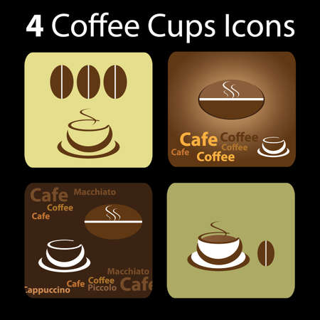 espresso cup: 4 Coffee Cup Icons
