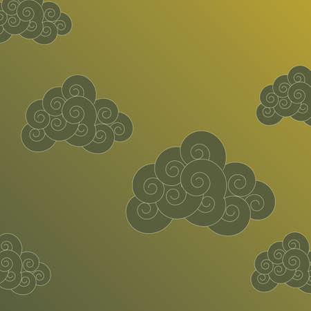 Stylized clouds background Vector