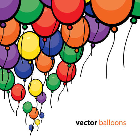 Party Balloons Background Stock Vector - 10023958